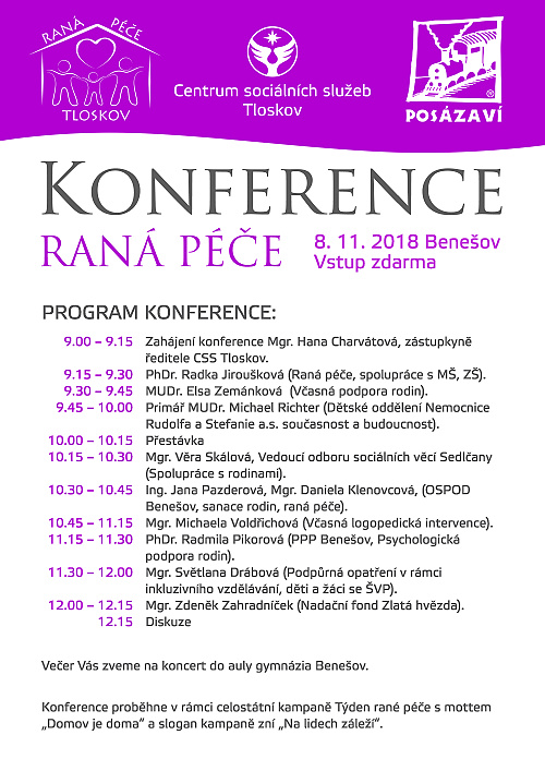Rana pece program konference 2018